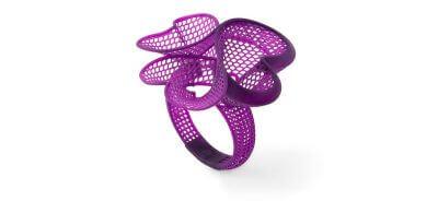 Beispiel eines Rings mit filigranen Details