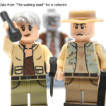 Zwei Figuren aus Lego aus der Serie The Walking Dead