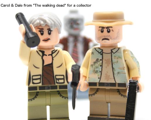 Zwei Figuren aus Lego aus der Serie The Walking Dead