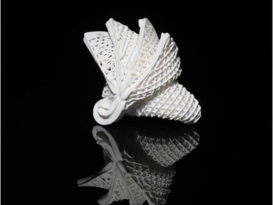Origami Figur mit 4D-Druck Keramik