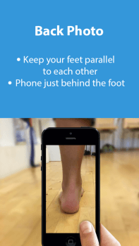 Anleitung zum Fotografieren des Fußes vorne