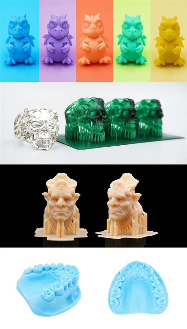 Druckbeispiele mit dem 3D-Drucker von SparkMaker