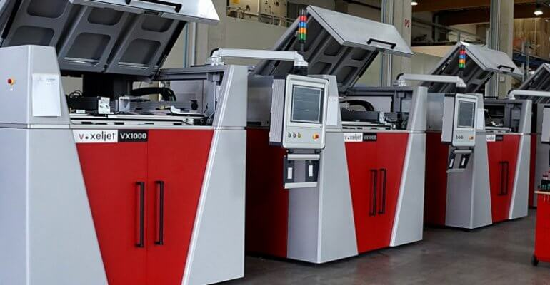 Mehrere VX1000 3D-Drucker