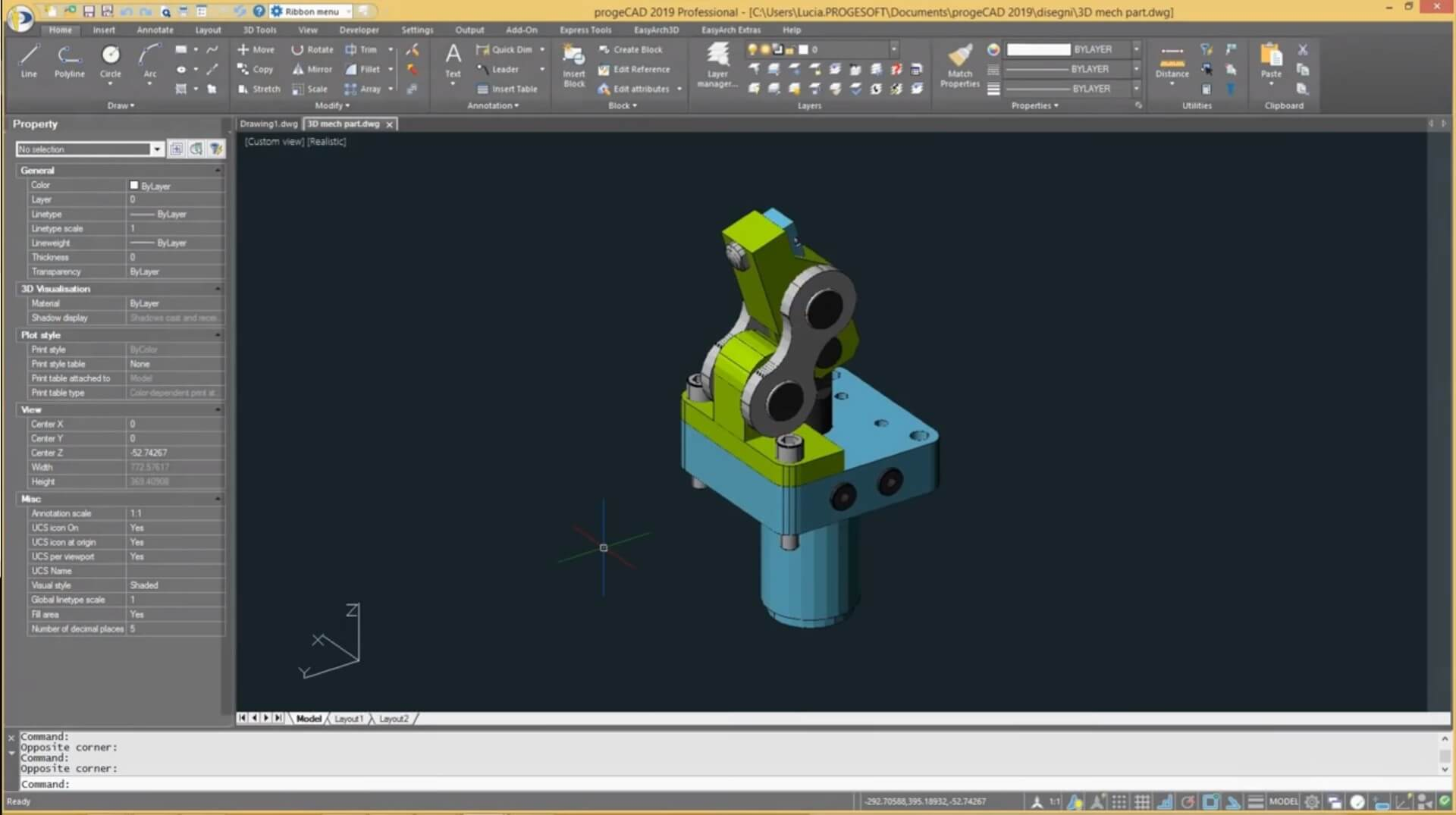 Screenshot progeCAD 2019 Professional