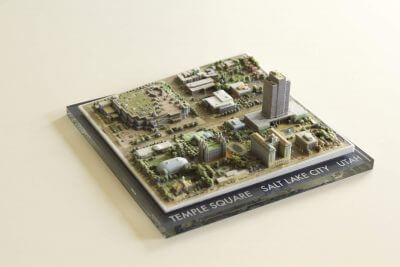 Stadtmodell aus dem 3D-Drucker