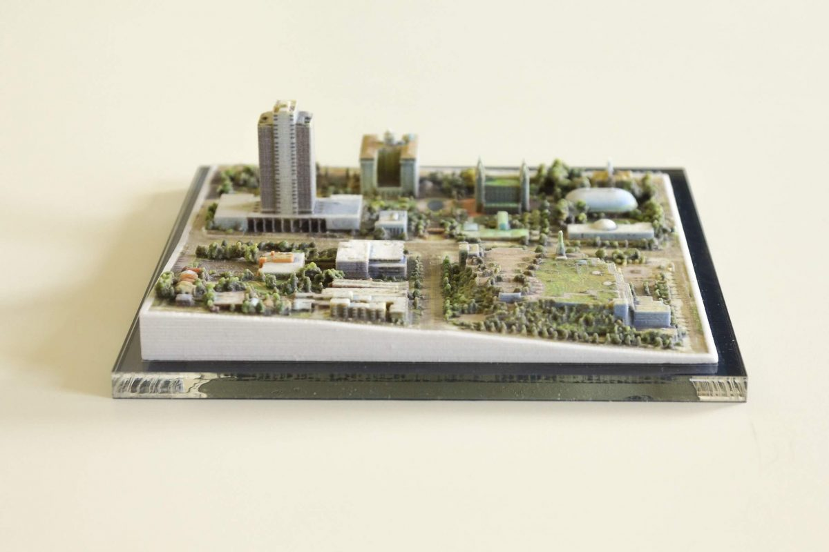 Maker druckt Vollfarb-Stadtmodelle basierend auf Google Earth