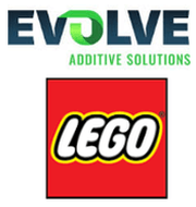 Logo Evolve Additive Solutions und Lego