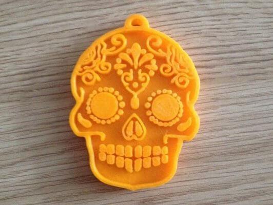 Totenkopf-Ausstechform aus dem 3D-Drucker