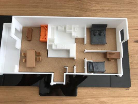 3D-Druck-Modell einer Wohnung