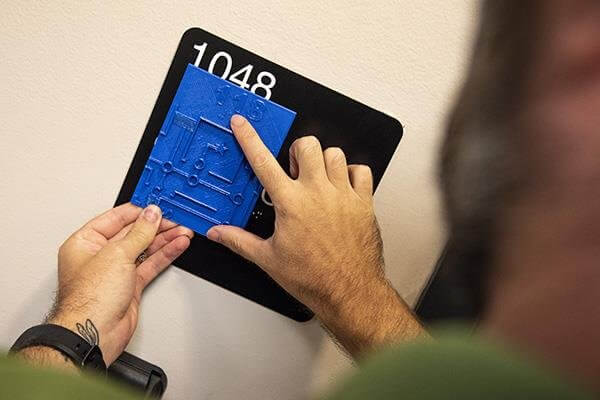 3D-gedruckte Blindenkarte