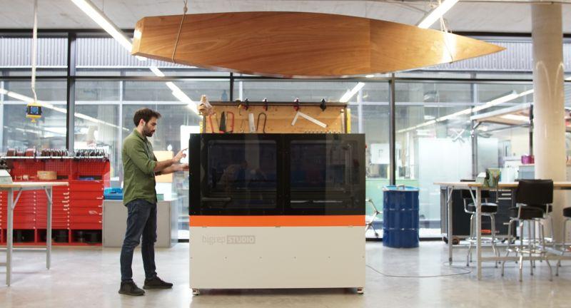 BigRep 3D-Drucker mit Bosch Rexroth CNC Steuerung