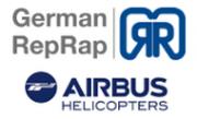 Logo German RepRap und Airbus Helicopters