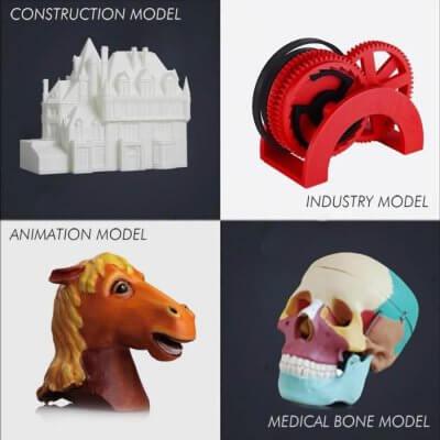 3D-Objekte mit dem JGAURORA A5X gedruckt