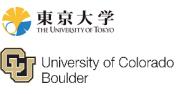 Logo der Universitäten Colorado und Tokyo