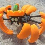 3D-gedruckte Kürbis-Spinne