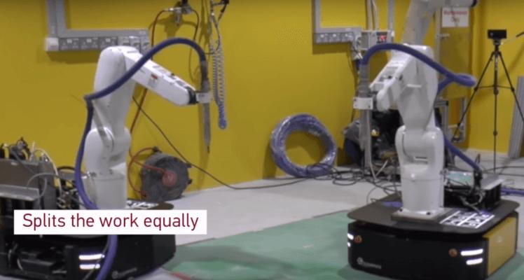 Synchronisierter 3D-Druck von Beton