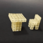 Tisch und Stuhl im Mini-Format 3D-gedruckt