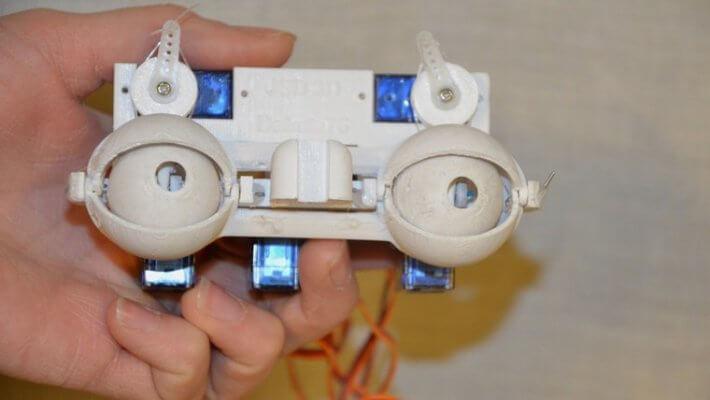 Augen des humanoiden Roboters