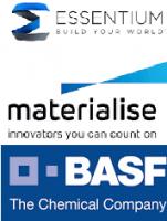 Logo von BASF, Essentium und Materialise