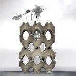 3D-gedrucktes Betonobjekt