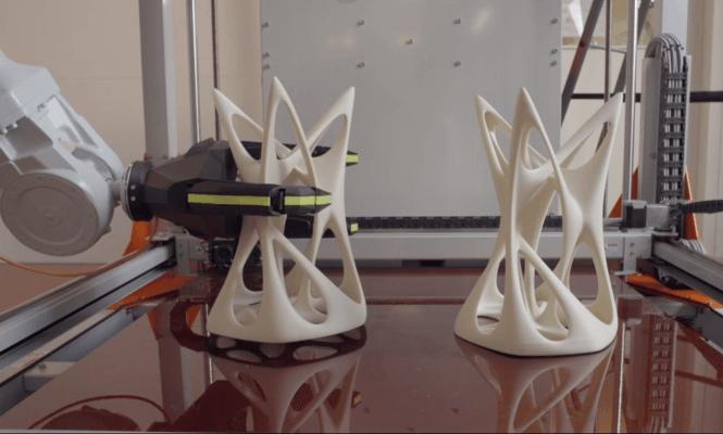 der Robotergreifer von BigRep in Aktion