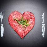 Fleisch in Herzform