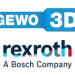 Logo GEWO 3D und Bosch Rexroth