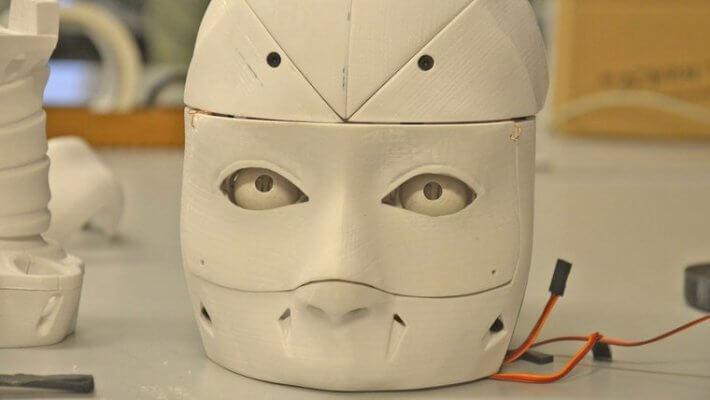 Kopf humanoider Roboter