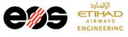Logos der Unternehmen EOS und Etihad Airways Engineering