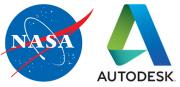 Logo der NASA und von Autodesk