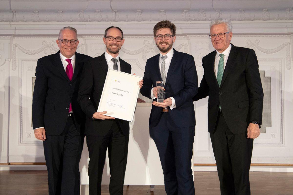 Nanoscribe mit 1. Platz beim baden-württembergischen Landespreis für junge Unternehmen