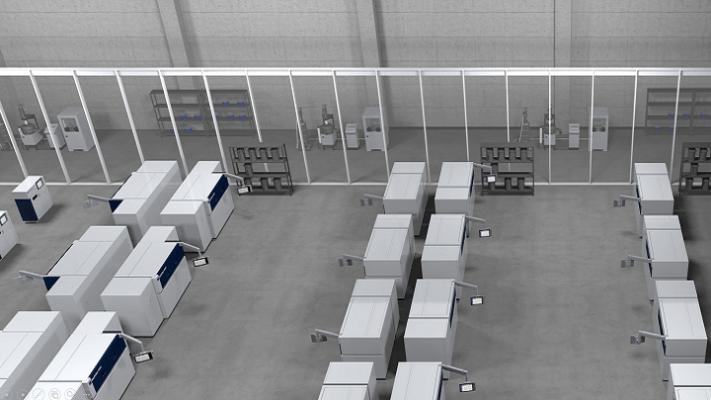 Prozesskette, mehrere 3D-Drucker