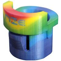 ein buntes 3D-gedrucktes Objekt