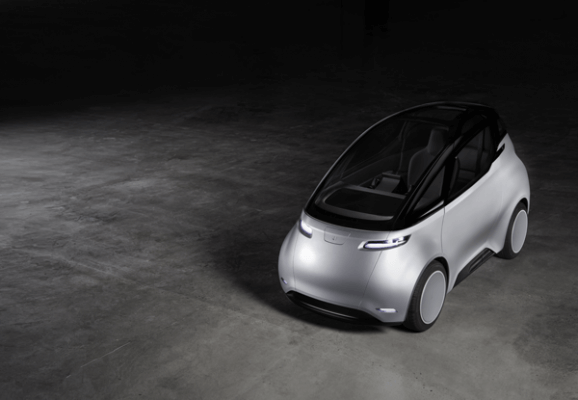 Uniti One - 3D-gedrucktes Auto von vorne