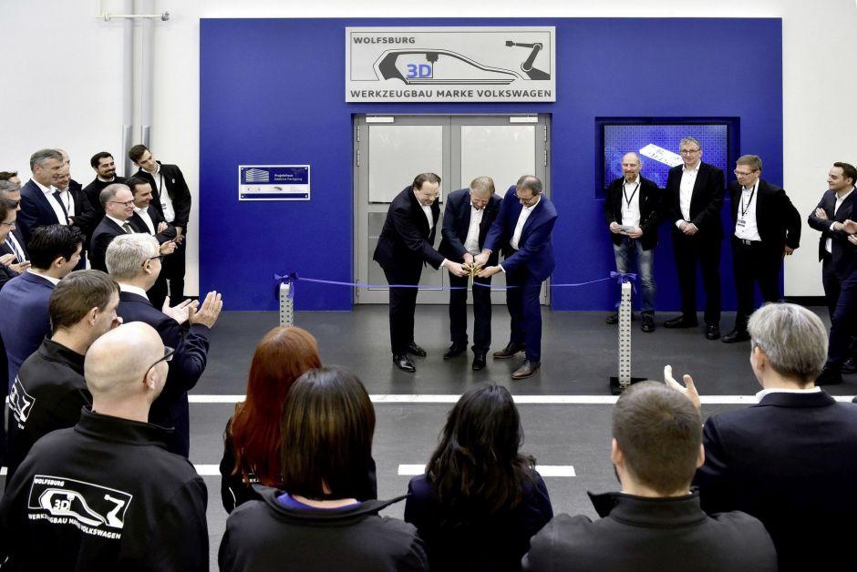Eröffnung des 3D-Druck-Zentrums von Volkswagen
