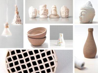 3D-gedruckte Objekte mit dem CERAMBOT 3D-Drucker