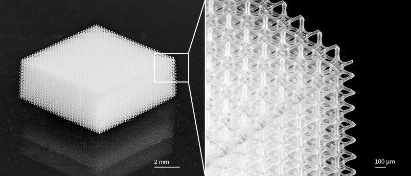 Eine filigrane dreidimensionale Struktur