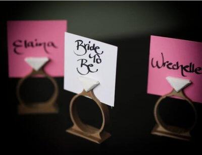 Halterung Namensschilder für Hochzeitstisch
