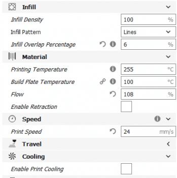 Cura-Einstellung transparenter 3D-Druck
