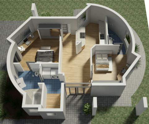 Modell 3D-gedrucktes Haus