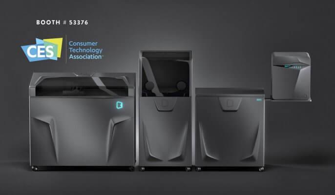3D-Drucker von Kwambio Werbung CES 2019