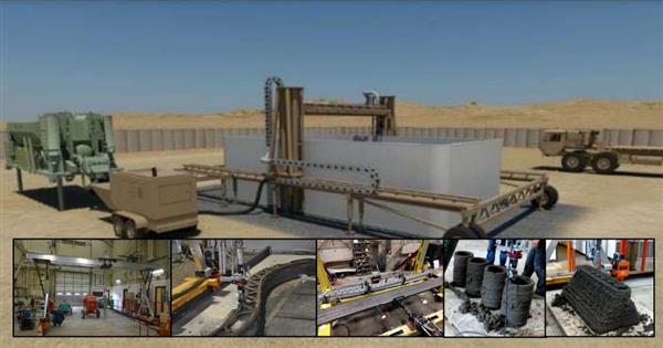 Zusammenschnitt von Bildern zum 3D-Druck im Camp Pendelton