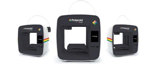 Abbildung dreier PlaySmart 3D-Drucker von Polaroid