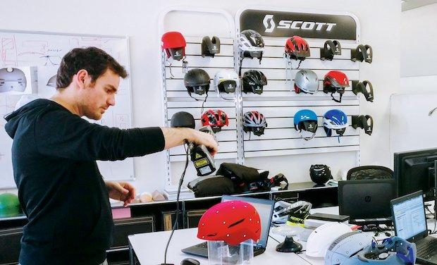 SCOTT Sports setzt auf 3D-Scanner bei Entwicklung neuer Sportartikel