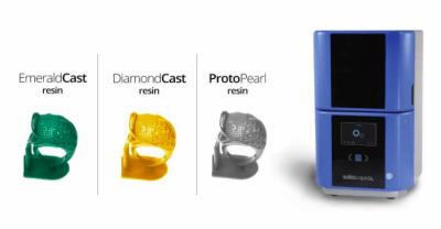 der SolidscapeDL und drei 3D-Druckbeispiele