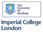 Logo University of Sheffield und dem Imperial College London