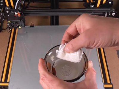 Zucker auf Druckbett auftragen