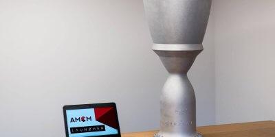 Raketenmotorenteil aus 3D-Drucker