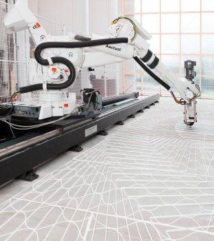 Fußboden wird mit 3D-Drucker hergestellt