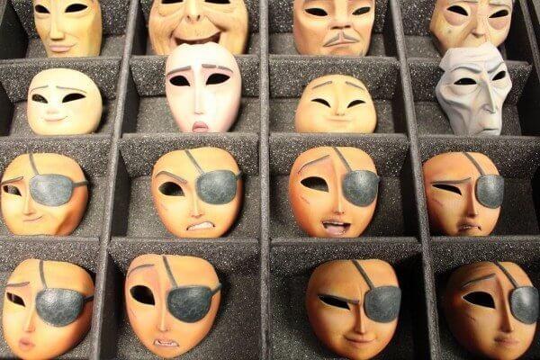 3D-gedruckte Gesichter Kubo